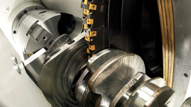 External milling of crankshafts