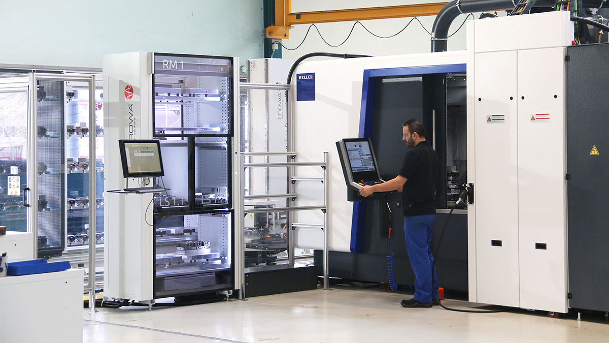 5-axis machining centres HF: Automation