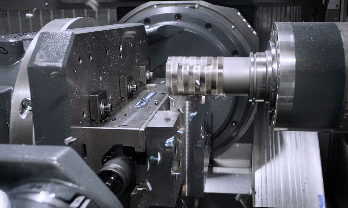 5-axis-machining on the HF series