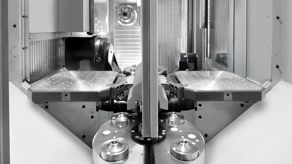 5-axis machining centres HF: Workpiece management