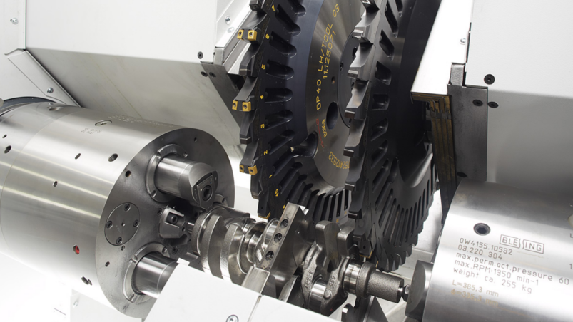 Turn-chasing of crankshafts